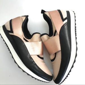 Steve Madden Slip on Tennis Shoes Rose Gold 8.5